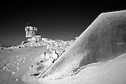 Appalachian Trail - The summit of Mount Washington during the winter months. Located in the White Mountains, New Hampshire USA.
