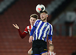 Reece York of Sheffield Utd challenges Liam Baldock of Sheffield Wednesday during the Professional Development League match at Bramall Lane, Sheffield. Picture date: 26th November 2019. Picture credit should read: Simon Bellis/Sportimage