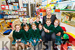 The nine new Juniors who started school in Aghatubrid NS on pictured here front l-r; Tiernagh McGill, Lea Kelly, Holly Joy Myres, Ruby Lyons, Cian Cournane, Sophie Vattani, back l-r; Brian O'Driscoll, Patrick McCarthy-Corcoran, Karl O'Shea & Sinéad O'Sullivan(Principal).