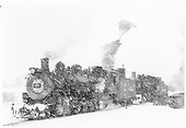 K-37 #492 double-headed in yard in snowstorm.<br /> D&amp;RGW