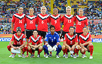 Starting eleven of team Canada during the FIFA Women's World Cup at the FIFA Stadium in Dresden, Germany on July 5th, 2011.