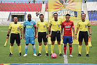 MONTERÍA - COLOMBIA ,20-10-2018:Heider Castro referee central del encuentro entre los equipos Jaguares de Córdoba y  el Independiente Medellín  partido por la fecha 16 de la Liga Águila II 2018 jugado en el estadio Municipal Jaraguay de Montería . / Central Referee Heider Castro during match Jaguares de Córdoba and Independiente Medellín match for the date 16 of the Liga Aguila II 2018 played at Municipal Jaraguay Satdium in Monteria City . Photo: VizzorImage /Andrés Felipe López  / Contribuidor.