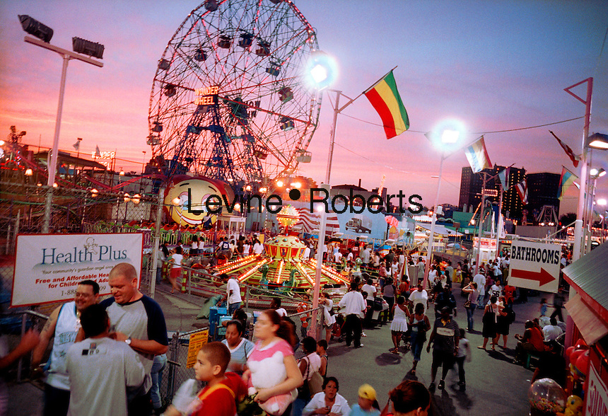 Astroland in Coney Island with the Wonder Wheel in the background. (© Richard B. Levine)