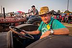 Tractor parade into the arena, Friday at the 80th Amador County Fair, Plymouth, Calif.<br /> .<br /> .<br /> .<br /> .<br /> #AmadorCountyFair, #1SmallCountyFair, #PlymouthCalifornia, #TourAmador, #VisitAmador