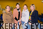 Pictured at the North Kerry finals of the Senior Scor which took place on Saturday night in Marian Hall, Moyvane were L-R: Mary O'Connell, St. Senans, Tara Mulvihill, Laura Stack, Moyvane and Bridget Tidings, Listowel.
