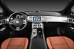 Straight dashboard view of a 2012 Jaguar XF Portfolio