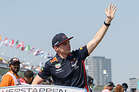 March 17, 2019: Max Verstappen (NLD) #33 from the Aston Martin Red Bull Racing team waves to the crowd during the drivers parade prior to the start of the 2019 Australian Formula One Grand Prix at Albert Park, Melbourne, Australia. Photo Sydney Low