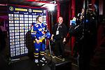 Stockholm 2014-05-03 Ishockey Oddset Hockey Games  Sverige - Finland :  <br /> Sveriges Oscar M&ouml;ller intervjuas i TV efter matchen<br /> (Foto: Kenta J&ouml;nsson) Nyckelord:  Oddset Hockey Games Sverige Swe Tre Kronor Finland Fin Globen Ericsson Globe Arena portr&auml;tt portrait intervju
