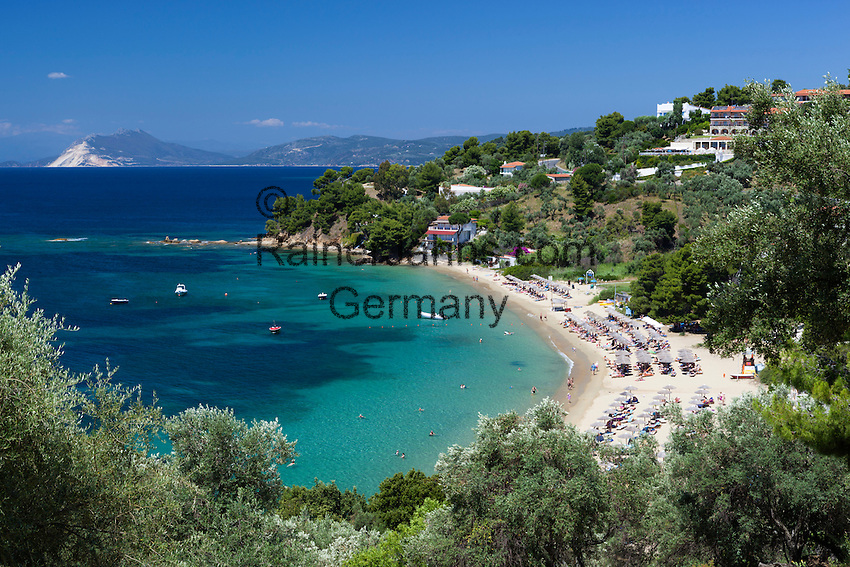 Greece, Thessaly, Northern Sporades, Island Skiathos, Troullos: Troullos beach | Griechenland, Thessalien, Noerdliche Sporaden, Insel Skiathos, Troullos: Troullos beach