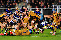 Jack Wilson of Bath Rugby takes on the Bristol Rugby defence. Aviva Premiership match, between Bath Rugby and Bristol Rugby on November 18, 2016 at the Recreation Ground in Bath, England. Photo by: Patrick Khachfe / Onside Images
