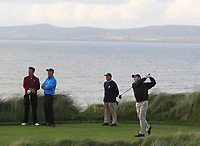 Justin Keogh (Limerick) on the 17th tee during the Munster Final of the AIG Senior Cup at Tralee Golf Club, Tralee, Co Kerry. 12/08/2017<br /> Picture: Golffile | Thos Caffrey<br /> <br /> <br /> All photo usage must carry mandatory copyright credit     (&copy; Golffile | Thos Caffrey)