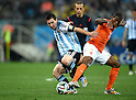 Lionel Messi (ARG), Georginio Wijnaldum (NED),<br /> JULY 9, 2014 - Football / Soccer : FIFA World Cup 2014 semi-finals match between Netherlands and Argentina at Arena de Sao Paulo in Sao Paulo Brazil.<br /> (Photo by FAR EAST PRESS/AFLO)