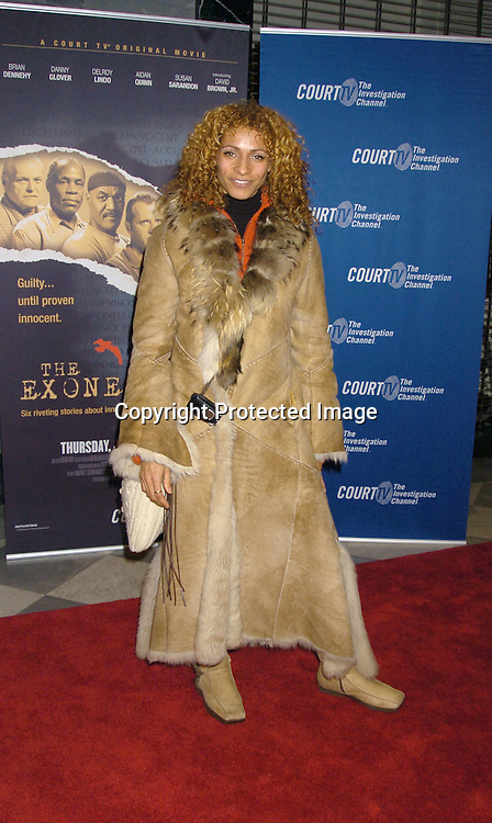 "Michelle Hurd ..at The New York Permiere of the Court TV Original Movie   ""The Exonerated"" at The Museum of TV and Radio on ..January 25, 2005. ..Photo by Robin Platzer, Twin Images"