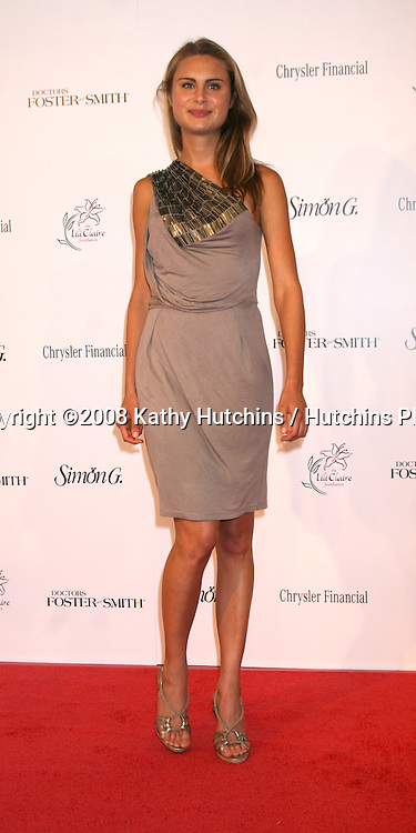 Antonia Dernoscheg arriving at the 11th Annual Lili Claire Foundation Benefit Dinner & Concert Gala  at the Santa Monica Civic Center  in Santa Monica,  CA on.October 4, 2008.©2008 Kathy Hutchins / Hutchins Photo....