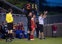 Boyds, MD - Saturday May 20, 2017: Mallory Pugh during a regular season National Women's Soccer League (NWSL) match between the Washington Spirit and FC Kansas City at Maureen Hendricks Field, Maryland SoccerPlex.