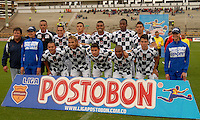 TUNJA -COLOMBIA, 01-03-2014. Jugadores del Boyacá Chicó FC posan para una foto de grupo previo al encuentro con Patriotas FC por la fecha 9 de la Liga Postobón I 2014 realizado en el estadio La Independencia en Tunja./ Players of Boyaca Chico FC pose to a photo group prior a match against Patriotas FC for the 9th date of Postobon  League I 2014 at La Libertad stadium in Tunja. Photo: VizzorImage/Jose Miguel Palencia/STR