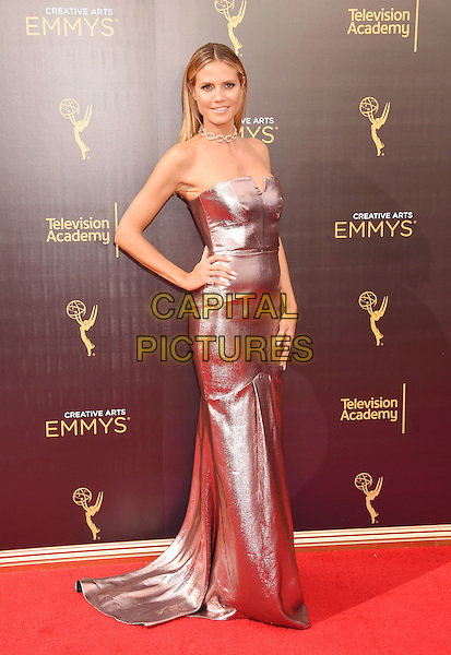 LOS ANGELES, CA - SEPTEMBER 11: Model/TV personality Heidi Klum attends the 2016 Creative Arts Emmy Awards held at Microsoft Theater on September 11, 2016 in Los Angeles, California.<br /> CAP/ROT/TM<br /> &copy;TM/ROT/Capital Pictures
