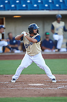 AZL Brewers Gold Matthew Mika (15) at bat during an Arizona League game against the AZL Brewers Blue on July 13, 2019 at American Family Fields of Phoenix in Phoenix, Arizona. The AZL Brewers Blue defeated the AZL Brewers Gold 6-0. (Zachary Lucy/Four Seam Images)
