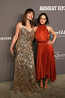 06 February 2019 - New York, NY - Milla Jovovich, Michelle Rodriguez. 21st Annual amfAR Gala New York benefit for AIDS research during New York Fashion Week held at Cipriani Wall Street. Photo Credit: Debby Wong/AdMedia