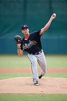 Atlanta Braves pitcher Kyle Muller (60) delivers a pitch during an Instructional League game against the Baltimore Orioles on September 25, 2017 at Ed Smith Stadium in Sarasota, Florida.  (Mike Janes/Four Seam Images)
