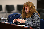 Nevada Assemblywoman Ellen Spiegel, D-Henderson, testifies in committee at the Legislative Building in Carson City, Nev., on Tuesday, May 12, 2015. <br /> Photo by Cathleen Allison