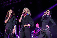 Bananarama perform at AmpRocks during Ampfest at Ampthill Great Park, Ampthill, England on 29 June 2018. Photo by David Horn.