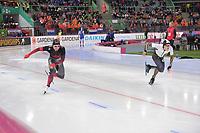 SPEEDSKATING: HAMAR: Vikingskipet, 28-02-2020, ISU World Speed Skating Championships, Sprint, 500m Men, Laurent Dubreuil (CAN), Yamato Matsui (JPN), ©photo Martin de Jong