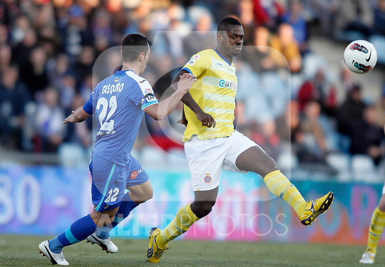 Espanyol's Koffi Romaric during La Liga Match. February 18, 2012. (ALTERPHOTOS/Alvaro Hernandez)