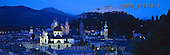 Tom Mackie, LANDSCAPES, panoramic, photos, Salzburg by Night, Austria, GBTM970325-3,#L#