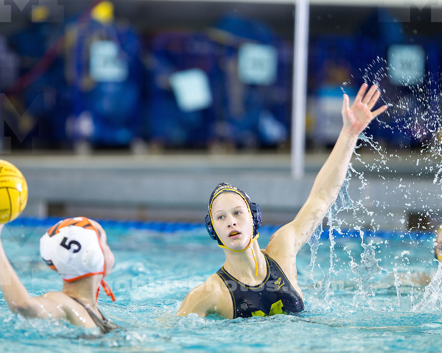 The University of Michigan water polo team lost to Princeton, 7-5, in the CWPA Eastern Championship Final at Canham Natatorium in Ann Arbor, Mich., on April 28, 2013.