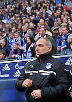 FUSSBALL   1. BUNDESLIGA   SAISON 2012/2013    27. SPIELTAG FC Schalke 04 - TSG 1899 Hoffenheim                       30.03.2013 Manager Andreas Mueller (TSG 1899 Hoffenheim)