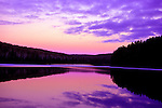 Sunset, Sky and Lake, Algonquin Park, Ontario, Canada, purple.Canada....
