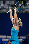 Coco Vandeweghe of United States celebrates winning the singles semi final match of the WTA Elite Trophy Zhuhai 2017 against Ashleigh Barty of Australia at Hengqin Tennis Center on November  04, 2017 in Zhuhai, China. Photo by Yu Chun Christopher Wong / Power Sport Images