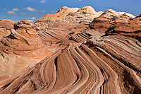 Wavy sandstone formations of North Coyote Buttes, near the Arizona and Utah border, October 2007