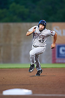 Tri-City ValleyCats Carmen Benedetti (43) running the bases during a game against the Auburn Doubledays on August 25, 2016 at Falcon Park in Auburn, New York.  Tri-City defeated Auburn 4-3.  (Mike Janes/Four Seam Images)