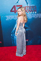 Los Angeles, CA - AUGUST 13th: <br /> Brec Bassinger attends the 47 Meters Down: Uncaged premiere at the Regency Village Theater on August 13th 2019. Credit: Tony Forte/MediaPunch