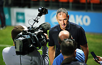 Pictured: Manager of Swansea City, Paul Clement interviewed by a tv crew. Wednesday 12 July 2017<br /> Re: Pre-season friendly, Barnet v Swansea City FC at The Hive, London, UK