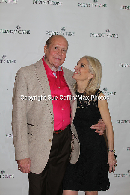 Patrick Robustelli poses with Catherine Russell. Perfect Crime - 30th Anniversary off-Broadway with Catherine Russell who originated the role of Margaret and has played every performance except 4 since April of 1987 and is in the Guiness Book of World Records. The 30th anniversary was on April 18, 2017 at Bernstein Theatre, New York City, New York. (Photo by Sue Coflin/Max Photos)