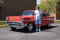 1957 Cruiser Class (#112C) – 1957 Chevrolet Bel Air registered to Virgil Scaggs is pictured during 4th State Representative Chevy Show on Thursday, June 30, 2016, in Fort Wayne, Indiana. (Photo by James Brosher)