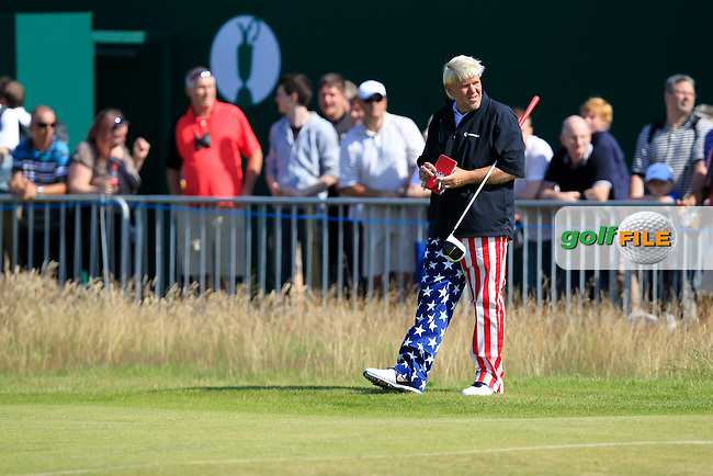 John Daly (USA) on the 18th hole during Sunday's Final Round of the 141st Open Championship at Royal Lytham & St.Annes, England 22nd July 2012 (Photo Eoin Clarke/www.golffile.ie)