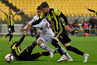 Wellington Phoenix&rsquo; Alex Rufer and Western Sydney Wanderers FC&rsquo;s Josh Risdon in action during the A-League - Wellington Phoenix v Western Sydney Wanderers at Westpac Stadium, Wellington, New Zealand on Saturday 3 November  2018. <br /> Photo by Masanori Udagawa. <br /> www.photowellington.photoshelter.com