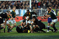Tendai Mtawarira in action during the Rugby Championship match between the New Zealand All Blacks and South Africa Springboks at QBE Stadium in Albany, Auckland, New Zealand on Saturday, 16 September 2017. Photo: Shane Wenzlick / lintottphoto.co.nz