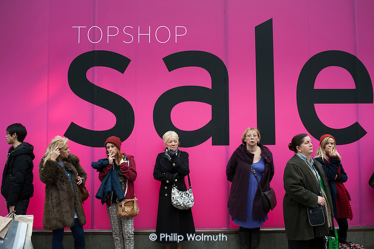 Post-Christmas sales in Oxford Street, London.