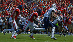 A.J. Moore goes in for the tackle during the game against UT Martin Sat., Sept. 9, 2017. Ole Miss wins 45-23.  Photo by Marlee Crawford/Ole Miss Communications