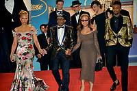 Spike Lee, wife Tonya Lewis Lee &amp; children Satchel Lee &amp; Jackson Lee leaving the gala screening for &quot;BLACKKKLANSMAN&quot; at the 71st Festival de Cannes, Cannes, France 14 May 2018<br /> Picture: Paul Smith/Featureflash/SilverHub 0208 004 5359 sales@silverhubmedia.com