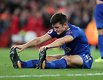 Leicester's Harry Maguire looks on dejected after conceding a fourth goal during the premier league match at the Emirates Stadium, London. Picture date 11th August 2017. Picture credit should read: David Klein/Sportimage