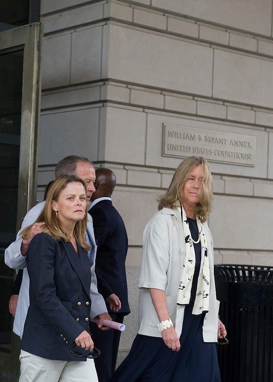 Ted Stevens, R-AK., leaves the U.S. district court with his wife Catherine Stevens (r) for his arraignment July 31, 2008 in Washington, DC. Stevens was arraigned on false disclosure charges pertaining to $250,000 in gifts from VECO Corp. he allegedly lied about on Senate disclosure forms.