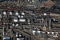 aerial photograph of the Marathon Petroleum Los Angeles Refinery, Los Angeles County, California