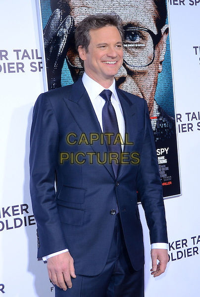 Colin Firth.The premiere of Focus Features' 'Tinker, Tailor, Soldier, Spy' held at Arclight Cinema's Cinerama Dome, Los Angeles, California, USA..December 6th, 2011.half length white blue tie suit.CAP/ADM/TW.©Tonya Wise/AdMedia/Capital Pictures.