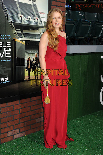 "Amy Adams.""Trouble With The Curve"" Los Angeles Premiere held at the Regency Village Theatre, Westwood, California, USA..September 19th, 2012.full length dress red gold bag purse  .CAP/ADM/BP.©Byron Purvis/AdMedia/Capital Pictures."